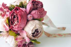 Shabby Chic Bridal Bouquet by Peony Bridal Bouquet Shades Of Pink Silk Wedding Flowers