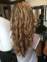 curly hair with lowlights layered hair back view britney lace front hair makeup