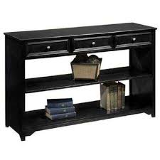 black sofa table with drawers home decorators collection black console table entryway tables