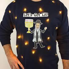 light up hanukkah sweater let s get lit hanukkah sweater theuglyholidays com