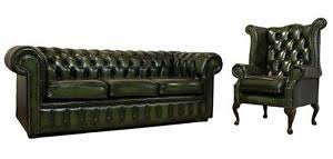 Leather Chesterfield Sofa For Sale Leather Chesterfield Sofa Ebay