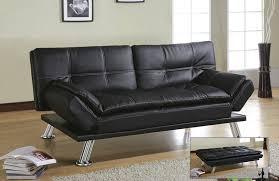 Futon Sleeper Sofa Black Faux Leather Click Clack Futon Sofa Bed 1025theparty