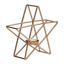Light Holder Wilko Christmas Ornament Tea Light Holder Copper Star Small Folk