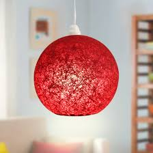 red pendant lamp shade large cut out dome metal lighting pendant