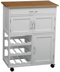 buy kitchen trolley with bamboo top white at argos co uk your