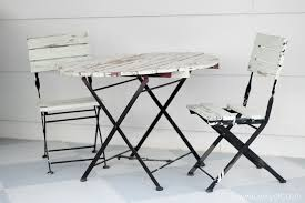 Metal Folding Bistro Chairs What Would You Do With This Table And Chairs Lovely Etc