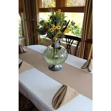 Table Runners For Round Tables Burlap Table Runner For 60 Inch Round Table 90 X 15 Inch Burlap