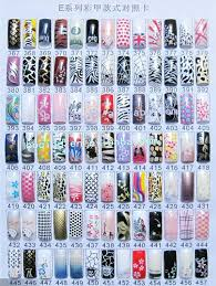 wholesale box airbrushed predesign nail art tip different styles