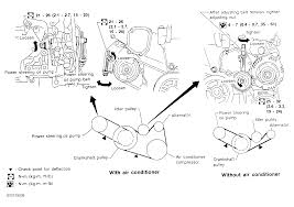 nissan maxima water pump 1998 nissan maxima serpentine belt routing and timing belt diagrams