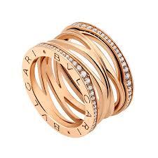 bvlgari rings images Bvlgari b zero1 zaha hadid 18ct pink gold diamond set four band ring jpg