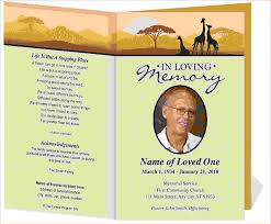 Programs For Memorial Services Samples 12 Funeral Programsagenda Template Sample Agenda Template Sample