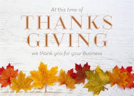 corporate thanksgiving card message festival collections