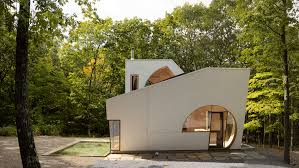 artist house steven holl carves boolean voids from ex of in house in new york state