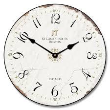 Silent Wall Clock J T Vintage White Wall Clock