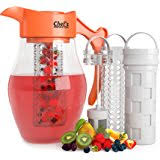 amazon com chef u0027s inspirations fruit infusion water pitcher 2 9