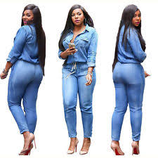 jumpsuits and rompers for denim solid plus size jumpsuits rompers for ebay