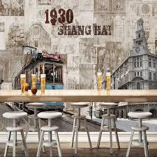 wallpaper dinding kamar vintage vintage retro shanghai kota foto wallpaper dinding mural untuk ruang