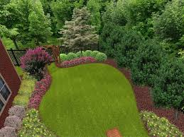 Backyard Trees Landscaping Ideas by Architectures Landscape Design With Greenyard And Stepping Stone
