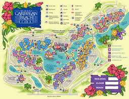 Map Of Hollywood Studios Disney U0027s Caribbean Beach Resort Guide Walt Disney World