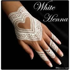 3 white henna cones temporary tattoo kit body art mehandi ink