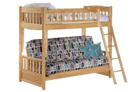 Cinnamon Twin Full Kids Wood Futon Bunk Sofa Bed Maple The Futon - Futon bunk bed frame