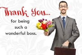 thank you note to boss appreciation letter to boss manager or