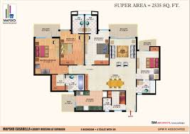 Casa Bella Floor Plan Mapsko Casa Bella Gurgaon