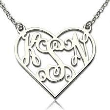 monogram jewelry cheap personalized cheap monogram necklace getnamenecklace