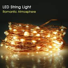 copper wire led lights high bright copper wire led string light wedding decoration outdoor
