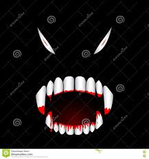 monster bloody teeth vector illustration stock vector image