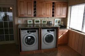 Washing Machine In Kitchen Design Look Granite Breakfast Table Combined Wooden