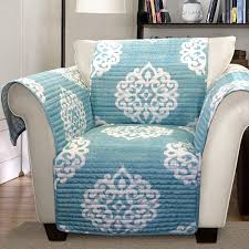 turquoise chair slipcover amazon com lush decor sohpie slipcover furniture protector for sofa