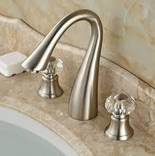 rozin double crystal knobs bathroom sink faucet widespread 3 holes