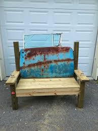 Bench Made From Tailgate 7 Best Benches Images On Pinterest Automotive Furniture Car