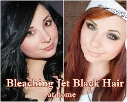 lighten you dyed black hair naturally bleaching jet black hair syoss lighteners review cat eyes red lips