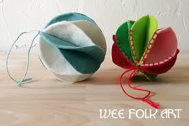 wool felt ornament accordion pattern wee folk