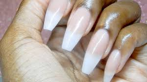 how to natural acrylic nails youtube