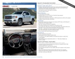 gm 2017 gmc canyon sales brochure