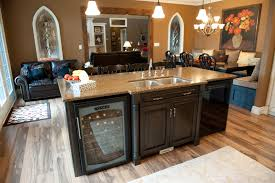kitchen island with dishwasher and sink large island with wine fridge depencier kitchens pinterest
