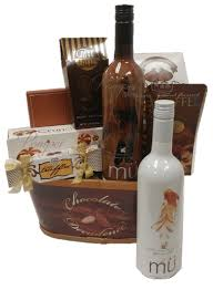 wine and chocolate gift baskets chocolate decadence wine gift basket by pompei baskets