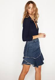 denim skirt mcguire catroux denim skirt balliets
