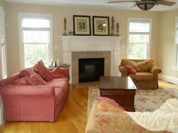 elegant living room interior design ideas with cream purple wall