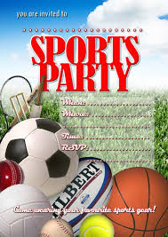 Party Invitation Card Design Sports Themed Baby Shower And Birthday Party Invitation Card