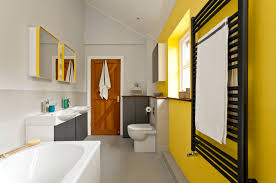 Grey And Yellow Bathroom by 10 Ways To Add Color Into Your Bathroom Design Freshome Com