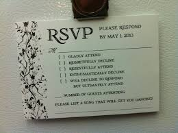 Response Card Wording Wedding Rsvp Reveals How Some People Feel About Attending Nuptials