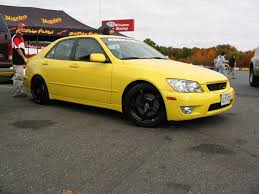 bagged is300 yellow is with black or gunmetal rims lexus is forum