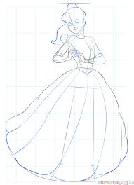 how to draw belle from beauty and the beast step by step drawing