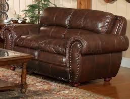 Leather Loveseats Italia Aspen Brown Sofa U0026 Loveseat Set W Options