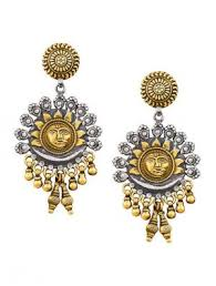 pachi work earrings earrings traditional pachi work gold plated sterling silver