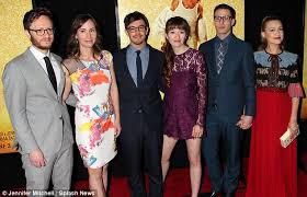 joanna newsom wedding dress andy samberg looks dapper in suit and tie with joanna at